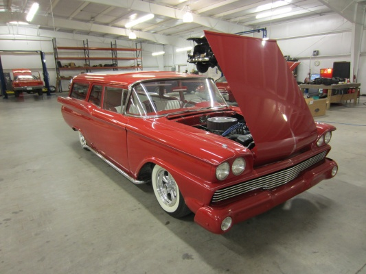 this 1959 ford ranch wagon came into the shop for a complete vehicle wiring  harness and a aod transmission